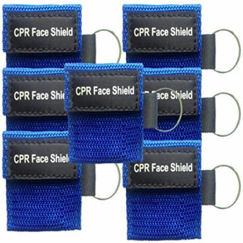 7 CPR Face Shield Mini Pocket Keychain One-way Valve Protective Barrier First Aid Rescue Masks