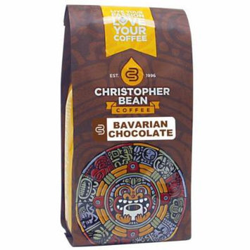 Christopher Bean Coffee Decaffeinated Whole Bean Flavored Coffee, Bavarian Chocolate Cake, 12 Ounce