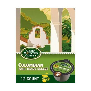 96 Count, Green Mountain Colombian Fair Trade Travel Mug VUE Packs For Keurig Vue Brewers (8 - 12 ct VUE Packs)