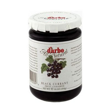 D'arbo Seedless Fine Black Currant Fruit Spread, 16 Oz/454 G