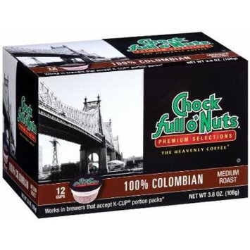 Chock Full O'Nuts 100% Colombian Coffee 12 CT K-Cups - Pack Of 6