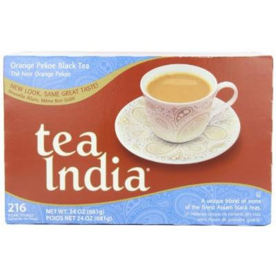 Tea India Assam Tea Blend, Orange Pekoe, 216 Round, 2-Cup Tea Bags, 24-Ounce Boxes (Pack of 2)