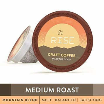 Specialty Grade Coffee For Keurig K-Cup Brewers: 72-Count Medium Roast Mountain Blend. 1.0 and 2.0 Compatible. Premium Quality, Eco-Friendly 100% Arabica Single-Serve Coffee by Greater Goods