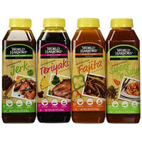 Bundle - 4 Items: World Harbors Marinade Sauces - Mexican Style Fajita, Maui Mountain Teriyaki, Jamaican Style Jerk, Maui Mountain Sweet 'n Sour