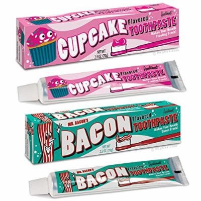Cupcake AND Bacon Toothpaste (2 pack: 1 of each)