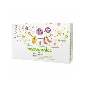 Babyganics Dryer Sheets 120 ea - Lavender