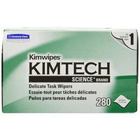 Kimtech Science KimWipes Delicate Task Wipers 1-ply 280 count (Pack of 2)
