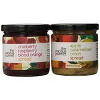 The Gracious Gourmet Spread Duo, Cranberry Raspberry Blood Orange and Apple Caramelized Onion , 16-Ounce