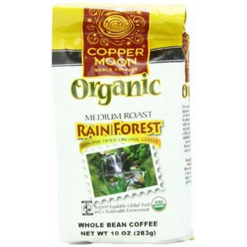 Copper Moon Rainforest Reserve Organic Coffee, Whole Bean, 10-Ounce Bags (Pack of 3)