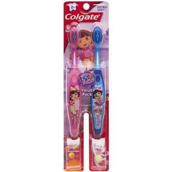 Colgate Kids Twin Pack Toothbrush, Dora The Explorer