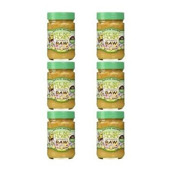 Wee Bee Naturally Raw Honey - 1 lb (Pack of 6)