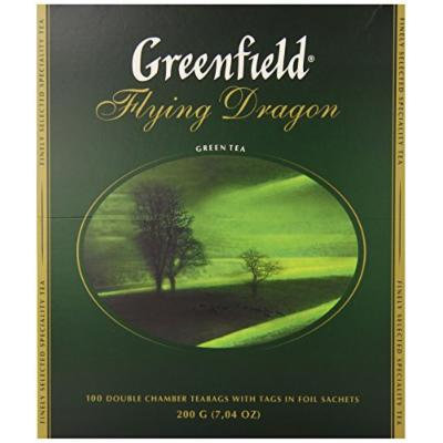 Greenfield Tea, Flying Dragon, 100 Count