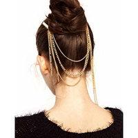 Summer Gothic Bohemia Chic Hair Fringe Tassel Kanzashi Hairpin Dance Headband Headpiece Hair Band New