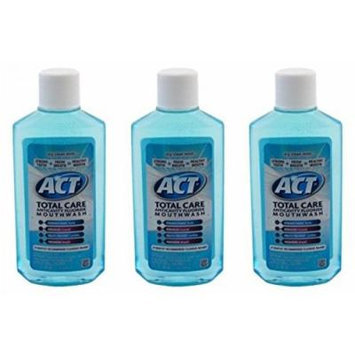 Act Total Care Mouth Rinse Icy Clean Mint 3 oz Travel Size (Pack of 3)
