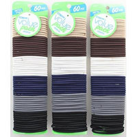 Conair Metal-free Hair Elastics 60 Pcs #49339