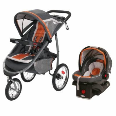 Graco FastAction Fold Jogger Click Connect Travel System/Click Connect 35, Tangerine