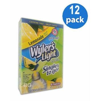 Wyler's Light LEMONADE Natural Flavors Soft Drink Mix Sugar Free 8 Sticks In Each Box (12 Pack) GL