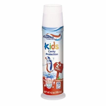 Aquafresh Kids Cavity Protection Toothpaste, Bubblemint 4.6 oz (130.4 g) Pack of 12