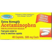 Acetaminophen Extra Strength Pain Reliever 500 mg Tablets - (120) Tablets