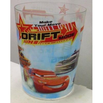 Disney Car Drift Lightning Mcqueen, Boost, Dj, Snot Rod, and Wingo! Plastic Trash Can Wastebasket