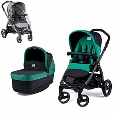 Peg Perego Book Pop with Stroller Rain Cover (Aquamarine)