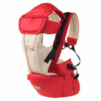 Beddinginn® Safe Comfortable Multi Functional Red Cotton Baby Carrier with Baby Hip Seat Included