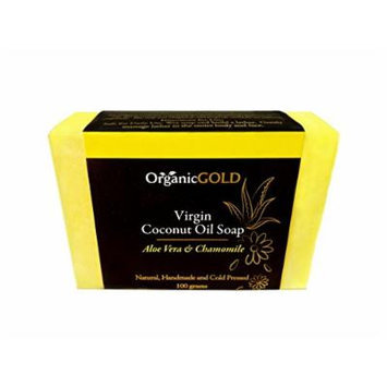 Organic Coconut Oil Soap with ALOE VERA & CHAMOMILE Is the Best Natural Cleanser and Deep Moisturizer for Face and Body - Soothes Blemishes, Wounds and Sunburn - for Healthy and Beautiful Skin!