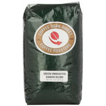 Green Unroasted Danish Blend, Whole Bean Coffee, 5-Pound Bag