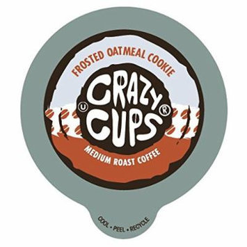Crazy Cups Frosted Oatmeal Cookie Flavored Coffee Single Serve cups for Keurig K-cup Brewer - 22 count