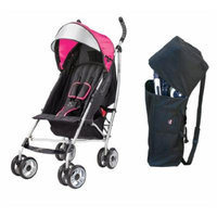 Summer Infant 3D Lite Convenience Stroller with Padded Travel Bag, Pink