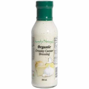 Simply Natural Organic Salad Dressing 12oz Bottle (Pack of 3) Choose Flavor Below (Creamy Caesar)