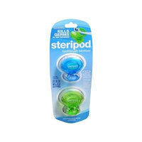 Steripod Clip-on Toothbrush Sanitizer 2 Pack Green and Blue