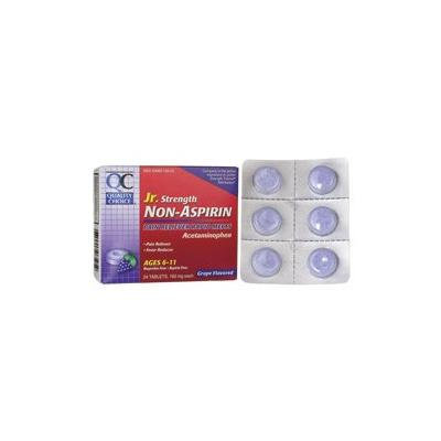 Non-Aspirin Jr. Strength - Grape Flavored 24 Chwbls