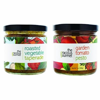The Gracious Gourmet Tapenade Duo, Vegetable and Garden Tomato , 14-Ounce