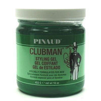 Clubman Style Gel For Men 16 oz. Jar (3-Pack) with Free Nail File