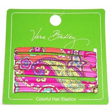 Vera Bradley Hair Elastics in Pink Swirls