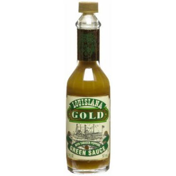 Louisiana Gold Green Sauce with Tabasco Peppers - 2 oz Bottle in Box