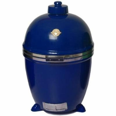 Grill Dome Infinity Series Ceramic Kamado Charcoal Smoker Grill, Blue, Extra-Large
