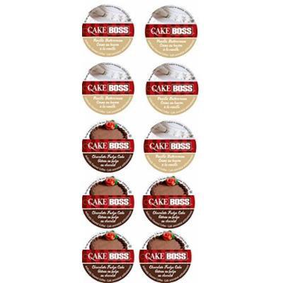 10 Cup Cake Boss® Coffee Sampler! 2 NEW Flavors! Vanilla Buttercream & Chocolate Fudge Cake