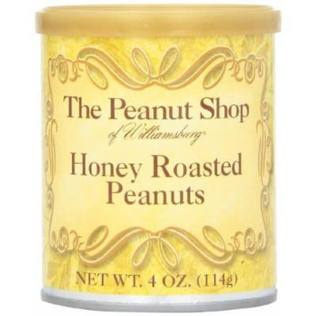The Peanut Shop of Williamsburg Peanuts, Honey Roasted, 4-Ounce Packages (Pack of 16)