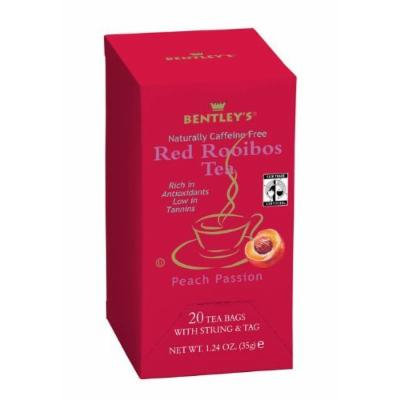 Bentley's Finest Tea Royal Peach Passion Rooibos Fair Trade Certified Box, 20-count