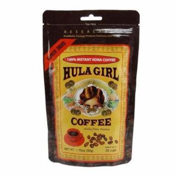 Hula Girl Instant 100% Kona Coffee Freeze Dried Pouch (50G) - 1Pc