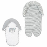Babies R Us - Gray/White B is for Bear Double Car Seat and Stroller Headrest