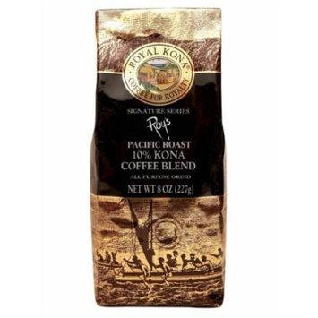Hawaii Royal Kona Coffee 8 oz. Ground 10% Kona Roy's Signature Series