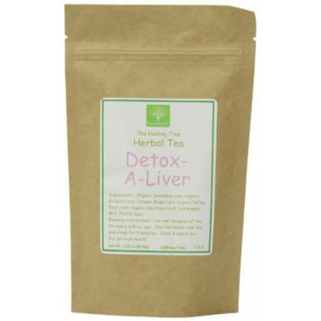 The Healing Tree Herbal Blend Detox-a-liver, Caffeine Free Loose Leaf Blend Tea, 2.08-Ounce Bags (Pack of 2)