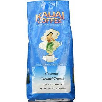 Kauai Hawaiian Coconut Caramel Crunch Coffee 24 Ounces