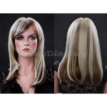 (WG-E-KAR-27P613) Straight Hair Wig, Light & dark blonde.