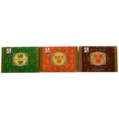Asian Taste Herbal Tea Collection - Bundle of One (1) Box of Green Tea, Jasmine Tea & Oolong Tea