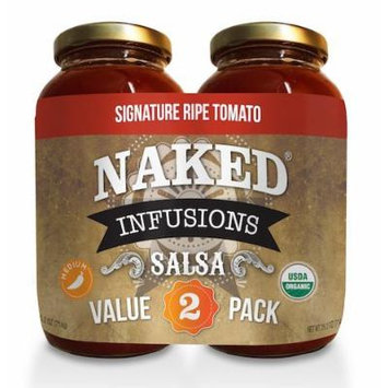 Naked Infusions Gourmet Salsa - Signature Ripe Tomato - Twin Pack 25.2 Oz