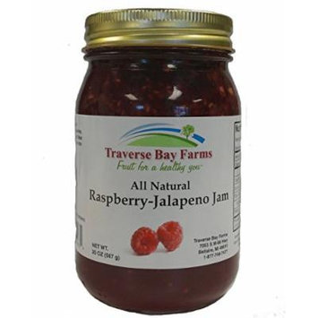 Traverse Bay Farms All Natural Raspberry Jalapeno Jam (Pepper Jelly)